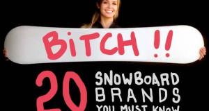 20 marques de snowboard à découvrir