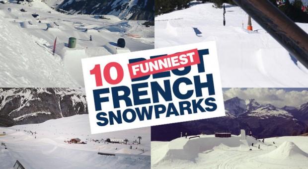 les 10 plus drôles snowparks français