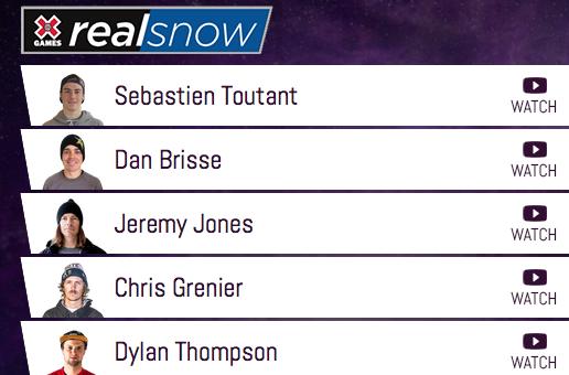 X Games Real Snow 2015, notre classement super subjectif